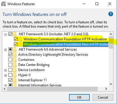 enabling the windows feature-0x800F081F