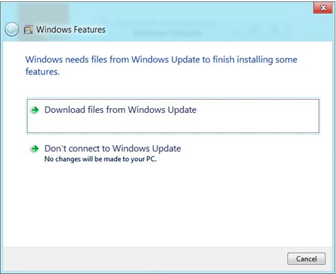 installing the windows feature-0x800F081F