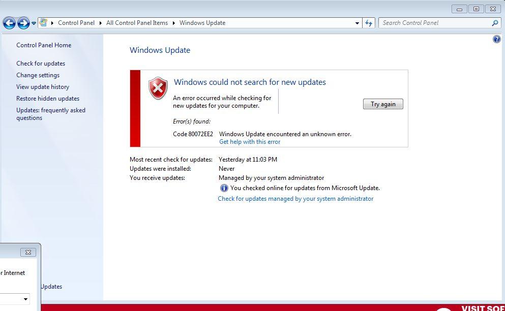 Windows Update 80072EE2 Error-technoresult