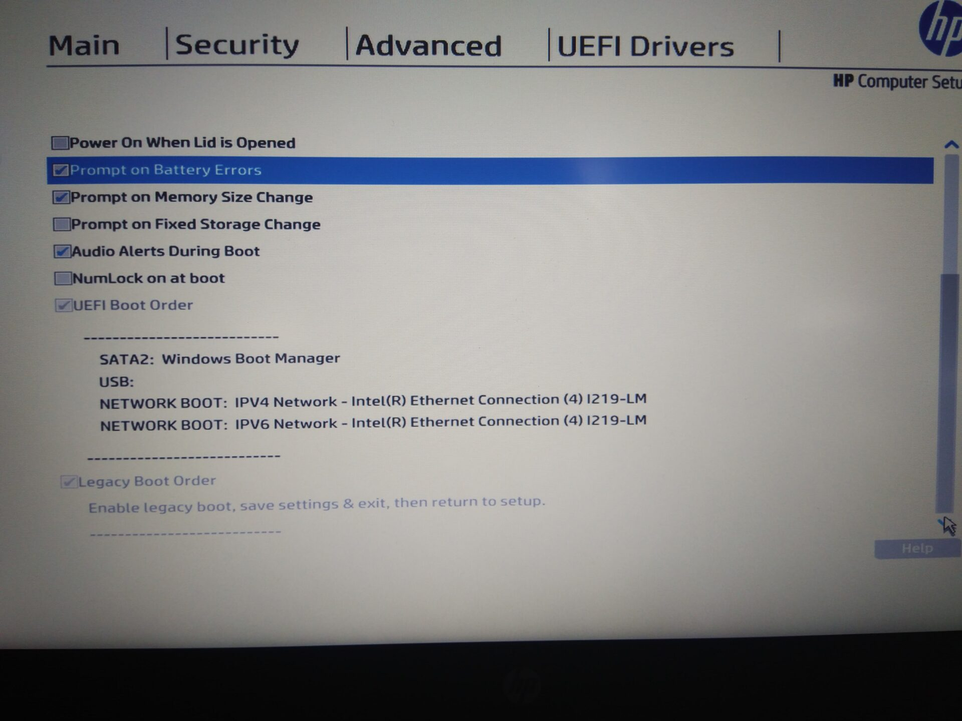 How to start Image in UEFI mode on HP laptop 840 G4 Model