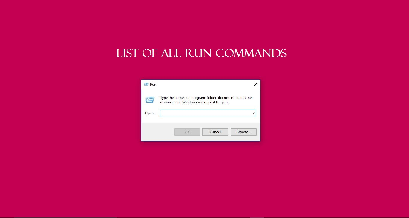 List of all windows 7/8/10 Run command — Tech Support