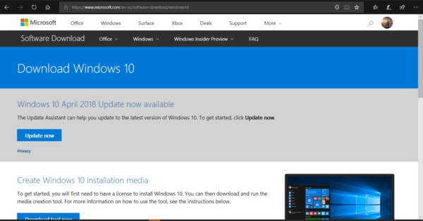 download windows 10 iso using media creation tool