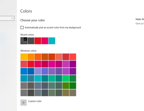 How to Delete Recent Colors History in Windows 10?