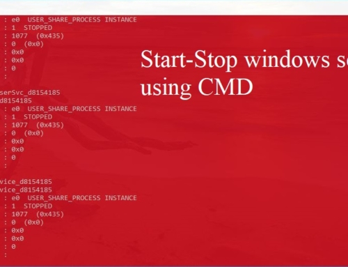 How to Start-Stop windows services using CMD?