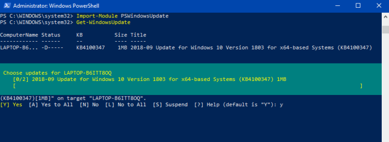 How to Install Windows Update using PowerShell in windows 10? — Tech