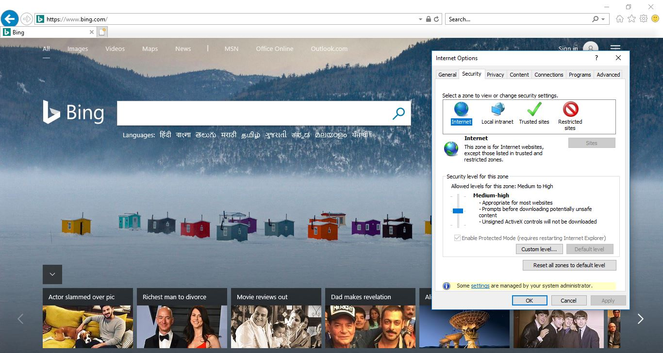 How to Disable Protected Mode in Internet Explorer windows 10