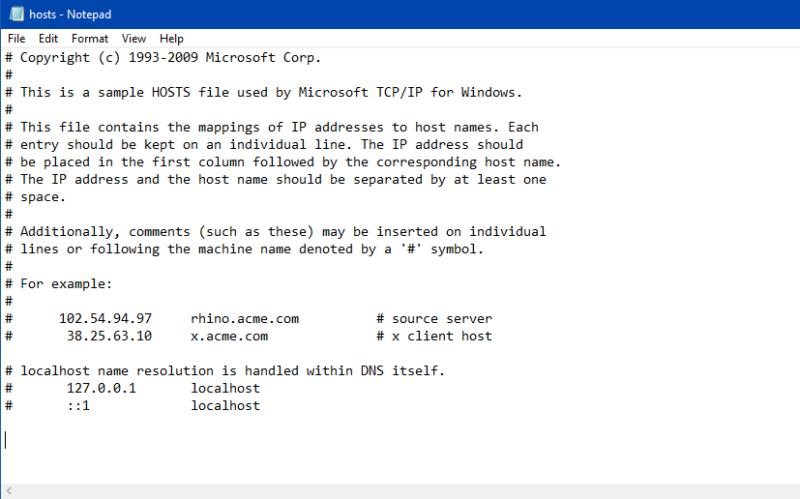 Host file format-Block any Website using Host file