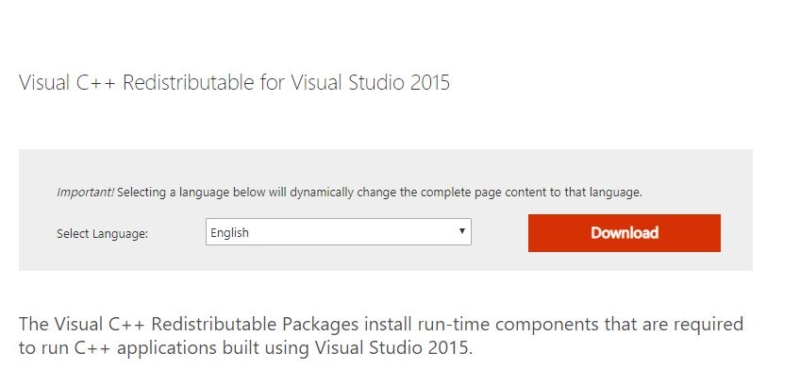 Installing the Visual C++ package-msvcp140.dll error