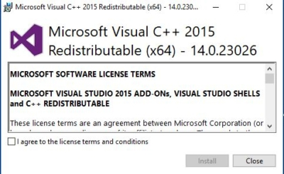 Installing the Visual C++ package2-msvcp140.dll error
