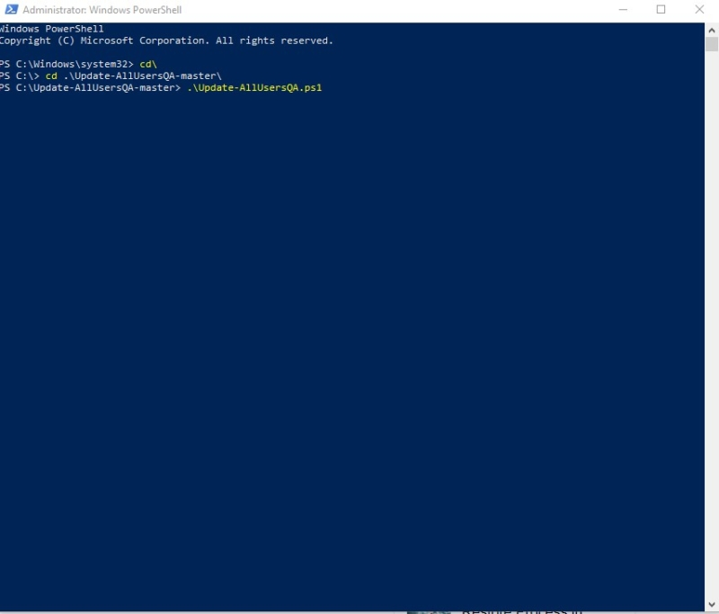enable security question using power shell-disable security Questions