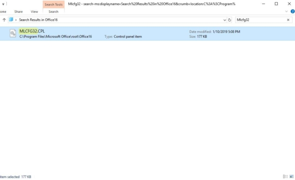 finding the path from the file explorer-mail 32 bit