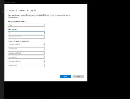 How to Enable/disable security Questions in windows 10?
