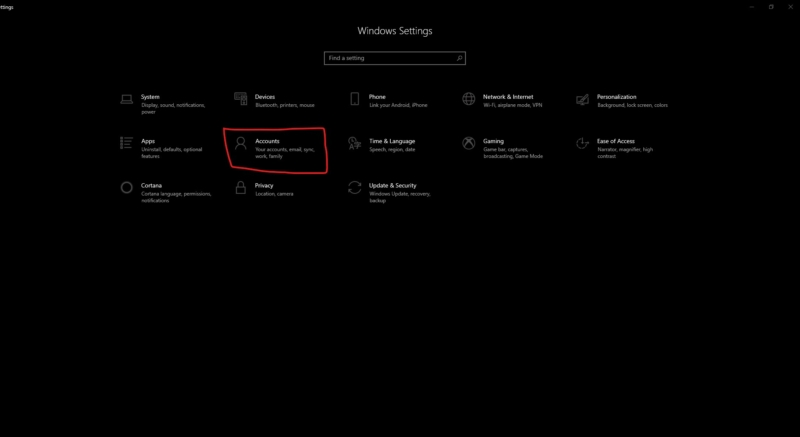 windows setting account-disable security Questions