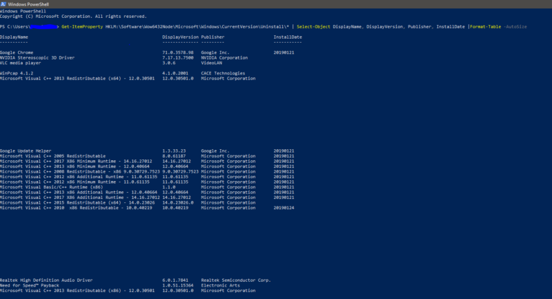 Get list of installed programs using Powershell-Download ccleaner-List of Installed Programs on Windows