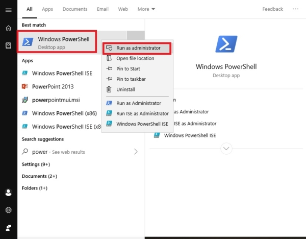 Opening the powershell in run as admin mode-install Azure PowerShell Module