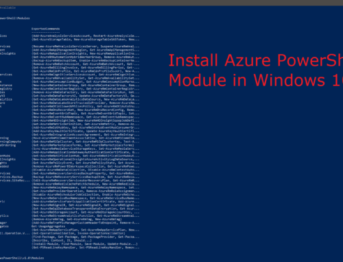 How to install Azure PowerShell Module in Windows 10?