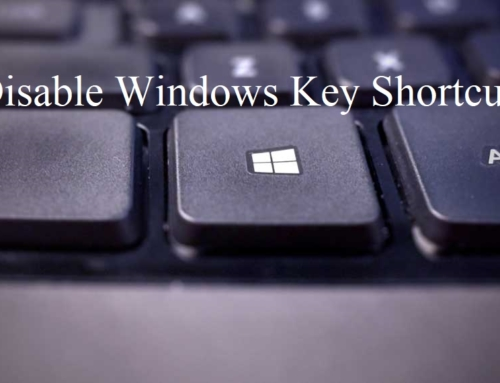 Disable Windows Key Shortcut on windows 10?